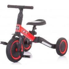 Триколка/ балансно колело Chipolino 2 в 1 Смарти - Черно и червено