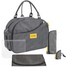 Чанта за пътуване Badabulle - Weekend, сива -1