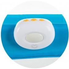 Музикална кутия за кошара Chipolino - С вибация и светлина, бяла -1
