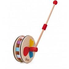 Дървена играчка за бутане Classic World - Цветовете на дъгата -1