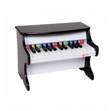 Детско дървено пиано - черно Classic World -1