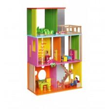 Дървена къща за кукли Classic World - Модерен дизайн -1