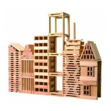 Строител от дървени блокчета Classic World - 250 части -1