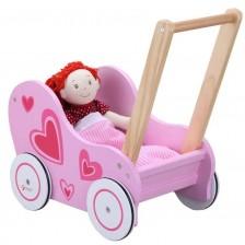 Количка за кукли Classic World - Розова -1