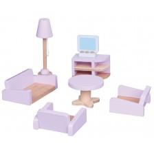 Комплект дървени мини мебели Lelin - Обзавеждане за хол -1