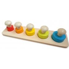 Дървена играчка Andreu toys - С кръгли части и големи дръжки -1