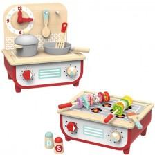 Дървена детска кухня с барбекю Tooky Toy  -1