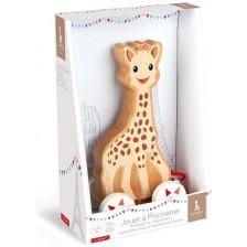 Дървена играчка за дърпане Janod - Жирафчето Софи -1