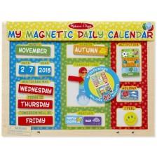 Дървен магнитен календар Melissa & Doug - На английски език -1