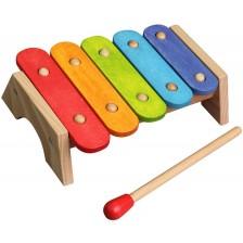 Дървена играчка Lelin - Бебешки ксилофон