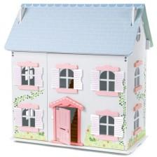 Дървена къща за кукли - Къщичката с бръшляна, двуетажна -1