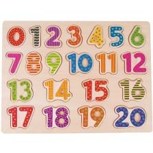 Дървен пъзел Lelin - Числата от 1 до 20 -1