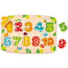 Дървена играчка Hape - Пъзел с цифри -1