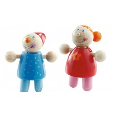 Дървени детски кукли Haba, 2 броя -1
