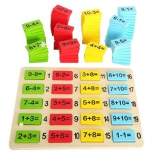 Дървен игрален комплект Small Foot - Дъска със задачи -1