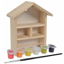 Дървена къщичка за пчели Eichhorn Outdoor - С боички -1