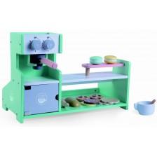 Дървен игрален комплект Moni - Магазин за кафе -1