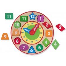 Дървен часовник сортер Melissa & Doug - Цветове и форми -1