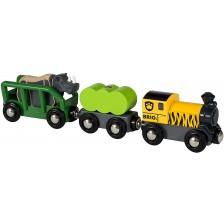 Дървена играчка Brio - Влакче Сафари -1