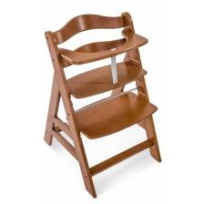 Дървено столче за хранене Hauck - Alpha Plus, Walnut -1