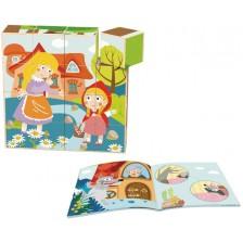 Дървени Кубчета Tooky Toy - Red Riding Hood -1