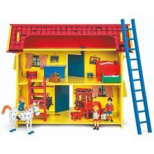Дървена играчка Pippi - Къщата на Пипи Дългото Чорапче, Вила Вилекула -1