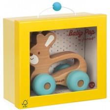Дървена играчка за бутане Janod - Зайче -1