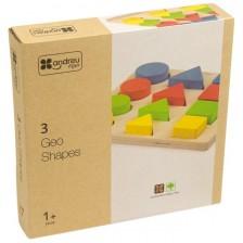 Дървена образователна играчка Andreu toys - Форми, размери и цветове