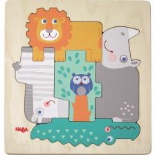 Дървен пъзел Haba - Диви животни -1