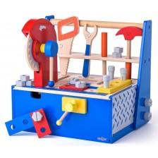 Дървено сандъче с инструменти Woody - Помощникът на татко -1