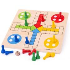 Детска дървена игра Bigjigs  - Не се сърди човече -1