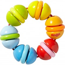 Дървена бебешка играчка Haba - Пъстри топчета -1