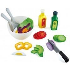 Дървен комплект Hape - Зеленчуци и сосове -1