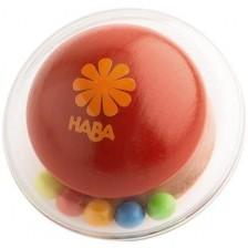 Дървена търкаляща се играчка Haba, Оранжева -1