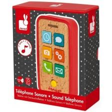 Дървена Играчка Janod - Телефон, със звук -1