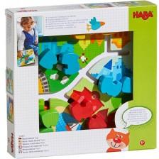 Дървена играчка Haba - Двустранна дъска с механичен влак -1