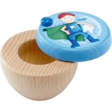 Дървена кутия за млечни зъбки Haba - Супергерой -1