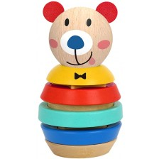 Дървена низанка Tooky Toy - Bear -1