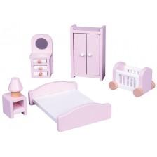 Комплект дървени мини мебели Lelin - Обзавеждане за спалня -1