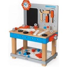 Дървена магнитна работна маса Janod - Brico Kids Diy -1
