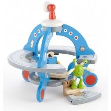 Дървена играчка Hape  - Кораб НЛО -1