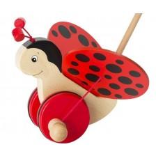 Дървена играчка за бутане Goki - Калинка Флора -1