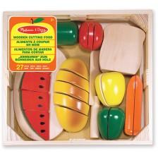 Дървен комплект за рязане Melissa & Doug - Хранителни продукти -1