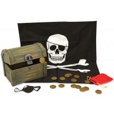 Дървен пиратски сандък Melissa & Doug  -1