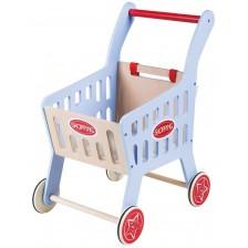 Детска количка за пазаруване Lelin - Синя -1