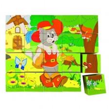 Дървени кубчета Woody - Приказки -1