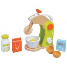 Игрален комплект Lelin - Детски  миксер, с продукти, зелен -1