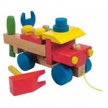 Дървен конструктор Woody - Камион -1
