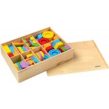 Дървен комплект за редене Haba - Даровете на Фрьобел, 588 части -1