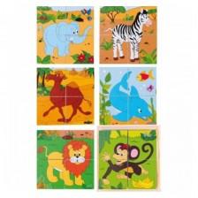 Дървени кубчета Woody - Африка -1